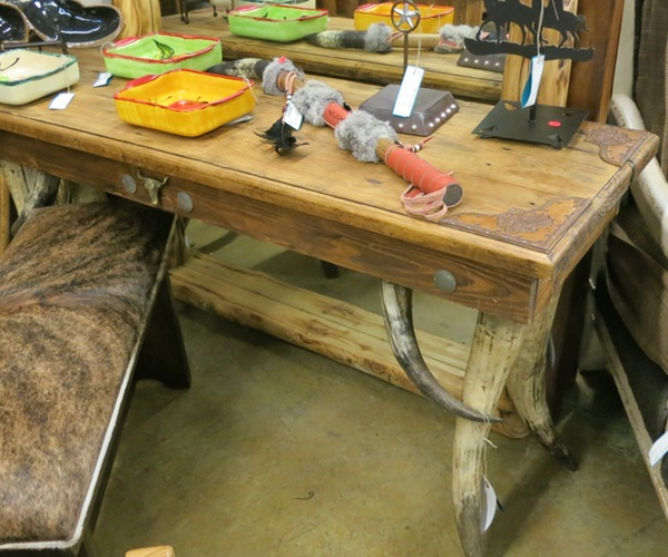 Silver Dollar Sofa Table