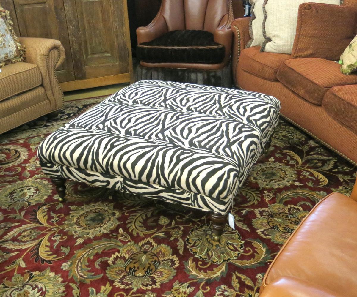 Zebra Print Ottoman Nest