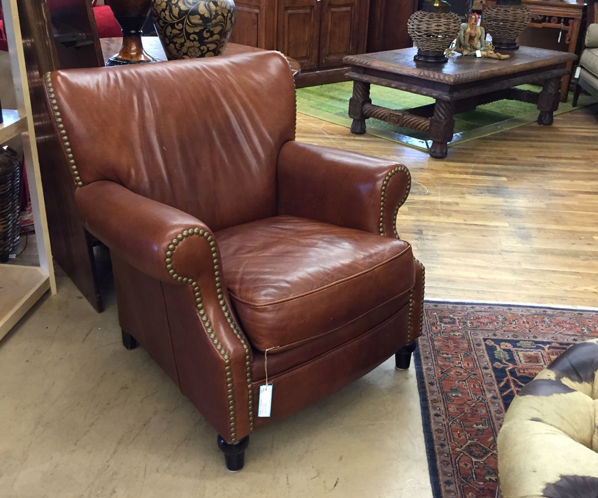 Crate & Barrel Leather Chairs