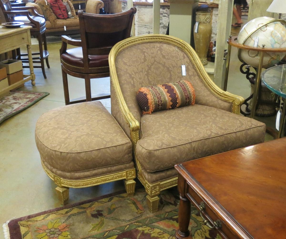 Ralph Lauren Chair & Ottoman