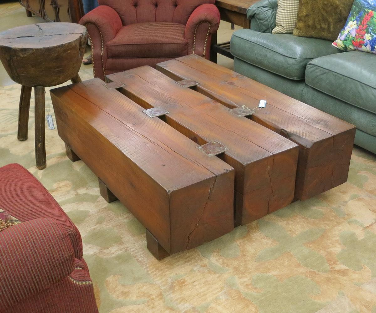 Wood Beam Coffee Table