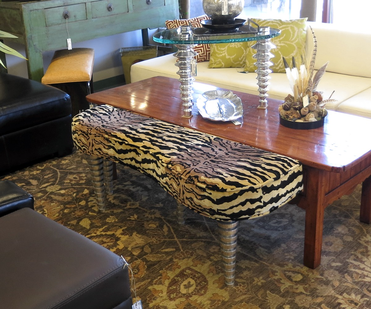Animal print bench nest Leopard print bench