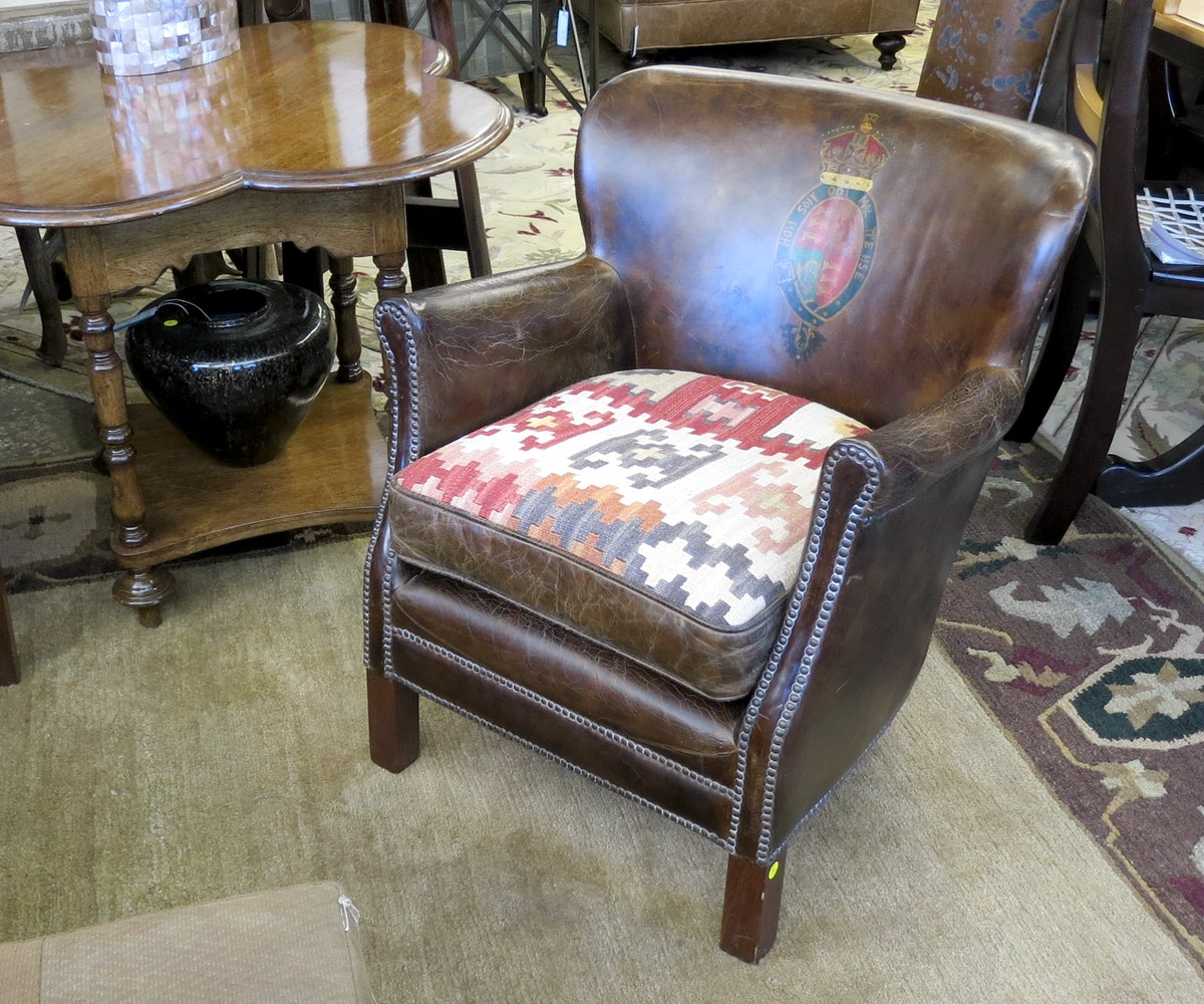 Pleasant Leather Crested Chair Nest Onthecornerstone Fun Painted Chair Ideas Images Onthecornerstoneorg