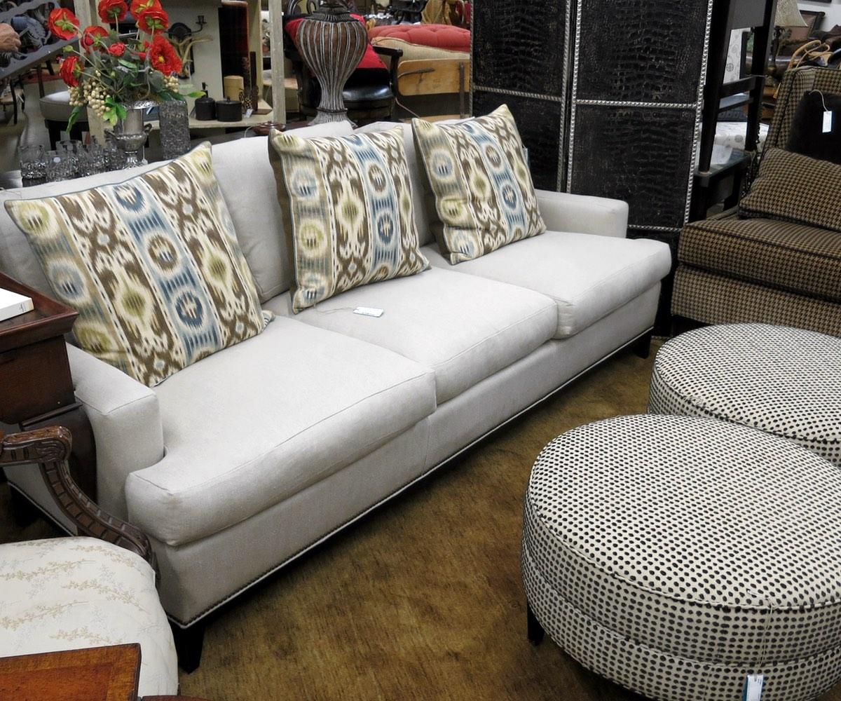 Linen and Silk Sofa